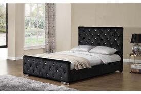 brand new chesterfield bed frame in double/king size-Quick delivery