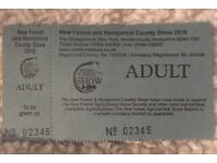 NEW FOREST SHOW 1x ADULT TICKET £10