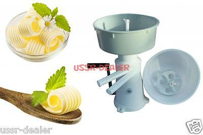 Milk Manual Cream Separator 50lh Butter Churn 2 In 1