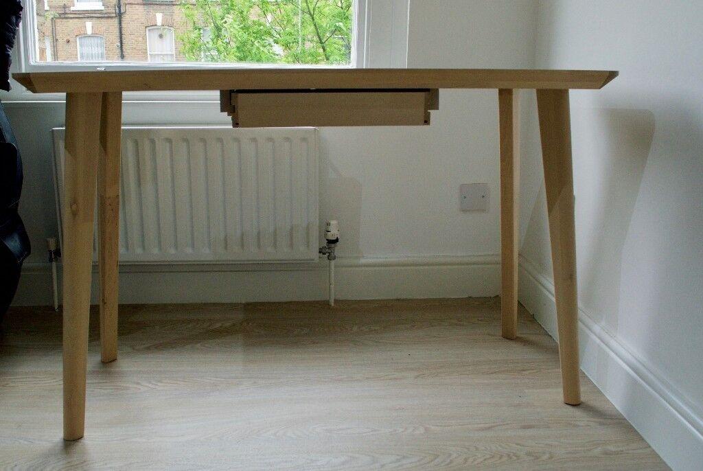 Ikea lisabo birch desk in archway london gumtree
