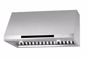 "850cfm 30 OR 36"" ANCONA PRO SERIES DUAL CENTRIFUGAL FAN Stainless Under Cabinet Range Hood"