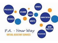 Virtual Assistant/ Freelance P.A.