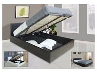 FREE DELIVERY -NEW Double Gas Lift Ottoman Storage Bed w/ 10inch Dual-Sided Full Orthopedic Mattress