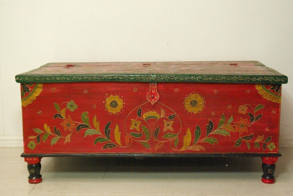 Hand Painted Retro Vintage Wooden Indian Chest Storage Trunk In West London London Gumtree