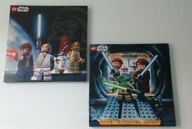 Set of 2 NEXT Lego Star Wars Canvas Pictures 450mm x 450mm