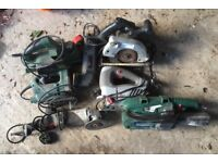Collection of 7 Mains Power Tools