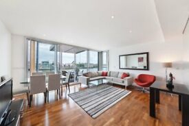 A two double bedroom two bathroom furnished luxury riverside apartment with balcony £650PW SE16 -SA