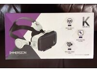 VR GOGGLES BY KAPLAN. BUILT IN PHONES. Boxed NEW