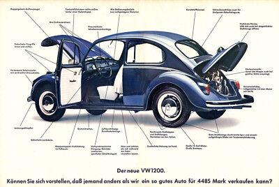 "1949-1967 FRONT//REAR x2 VW BUG BEETLE CHROME /""T/"" BARS PAIR CAL LOOK LONG"