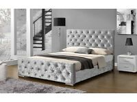 CRUSH VELVET DIAMANTE FRAME BED -SPECIAL OFFER-