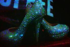 Sworvoski Crystal pkatform high heels 5