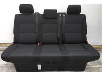 VW T6 Transporter Caravelle Rear Triple Seat Bed, Kutamo Pattern