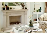 Stone Fireplace Hand Carved made to measure . Still offering delivery before Christmas