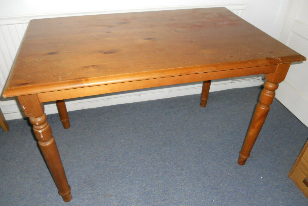 Solid Pine Table, Work Table, Desk