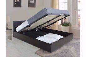 ⌚️BUMPER SALE ON ⌚️⌚️NEW DOUBLE LEATHER OTTOMAN STORAGE BEDS AVAILABLE IN BLACK OR BROWN COLOR⌚️⌚️