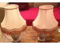 2 X vintage light lamp st Michael flower