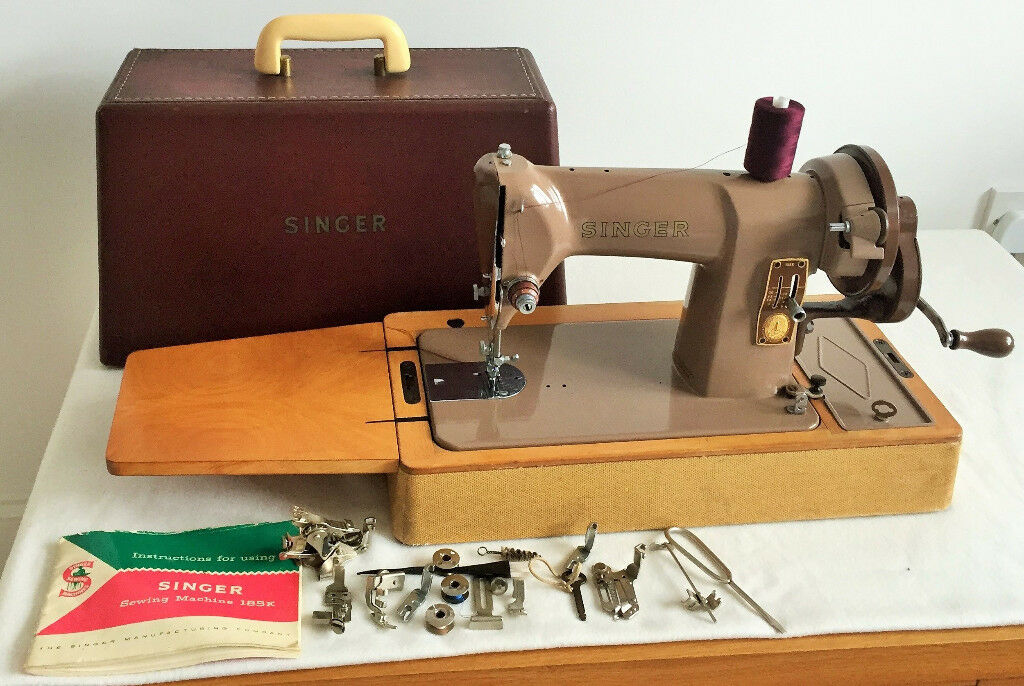 Singer 40K Heavy Duty Hand Crank Sewing Machine SEWS LEATHER Inspiration Singer Hand Crank Sewing Machine