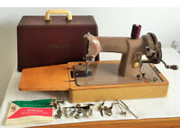 Singer 185K Heavy Duty Hand Crank Sewing Machine - SEWS LEATHER - Immaculate Condition