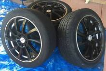 """17"""" CSA Motega Alloy Rims + Tyres (set of 4) South Guildford Swan Area Preview"""