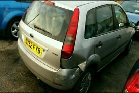 BREAKING FORD FIESTA SILVER GHIA MK6 2002 5DR 1.4 PETROL MANUAL 67K