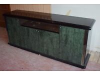 Sideboard - glossy black and green