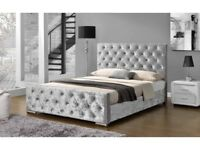 Crush Velvet Diamonds Frame Bed OFFER