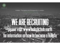 Exciting new HOLISTIC HUB now recruiting mobile holistic and bodywork therapists in London