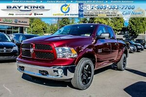 "2017 Ram 1500 OUTDOORSMAN, 4X4, 20"" BLACK WHEELS, BLUETOOTH"