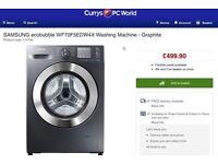 New Samsung WF70F5EDW4X 7kg Ecobubble Washing Machine A+++