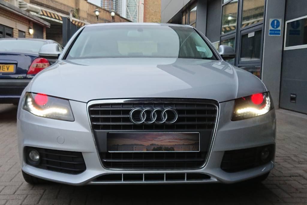 Audi A4, B8, S4 pair of customised demon headlights | in Mile End, London |  Gumtree