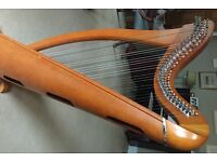 Clarsach 34 string lever harp for sale. 1 owner. Perfect first harp.
