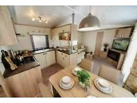 Luxury static caravan in Devon with decking and panoramic seaviews! Direct beach access Devon