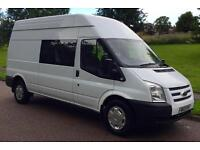 Ford Transit 350 Hr 9 Seater CrewVan (white) 2013