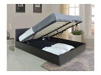 "**100% GUARANTEED PRICE!**BRAND NEW-Kingsize Storage Leather Bed With 10"" Dual Sided Quilted Mattres"