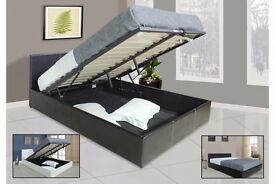 QUICK DELIVERY! 50% OFF! BRAND NEW DOUBLE LEATHER STORAGE BED FRAME WITH SEMI ORTHOPEDIC MATTRESS =