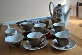 Staffordshire pottery 1964, midwinter coffee set