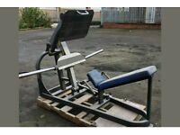 Plate loaded leg press hammer strength