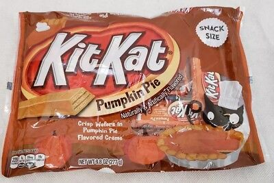Kit Kat KitKat Pumpkin Pie Wafers Candy Snack Size 9.8 Oz Fresh Exp 7/2019 (Kit Kat Halloween)