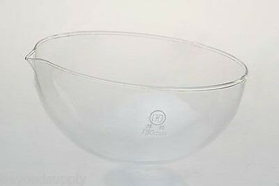 Lab Glass Evaporating Dish Round Bottom With Spout 60mm New