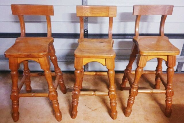 Set of 3 wooden bar stools for sale   Stools & Bar stools ...