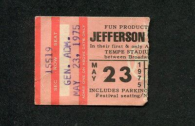 1975 Jefferson Starship Commander Cody concert ticket stub Tempe AZ Miracles