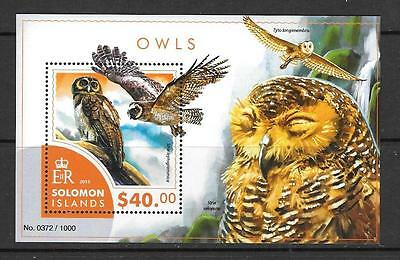 SOLOMON ISLANDS 2015 OWLS (2) MNH