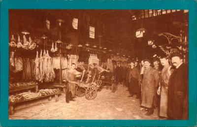 POSTCARD SOCIAL HISTORY YESTERDAYS BRITAIN SMITHFIELD MARKET 1912