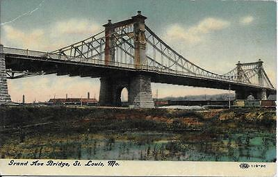 Grand Avenue Bridge Saint Louis Mo Postcard Postally Used In 1911 W  Postage Due