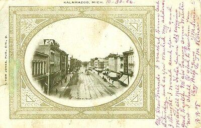 Kalamazoo,MI. A 1906 View of West Main Street, - Halloween Kalamazoo