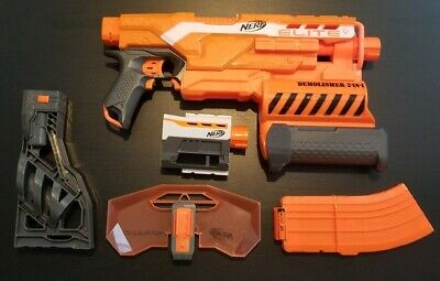 NERF N-Strike Elite 2-in-1 Demolisher w/ 10 round clip, shield, stock, & barrel