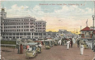 Postcard New Jersey Atlantic City New Garden Pier Boardwalk 1916