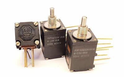 3 Pack Ab Dual 10k Ohm Mod Pot Modified Log Potentiometer 1w 73p4g032r103b Bh