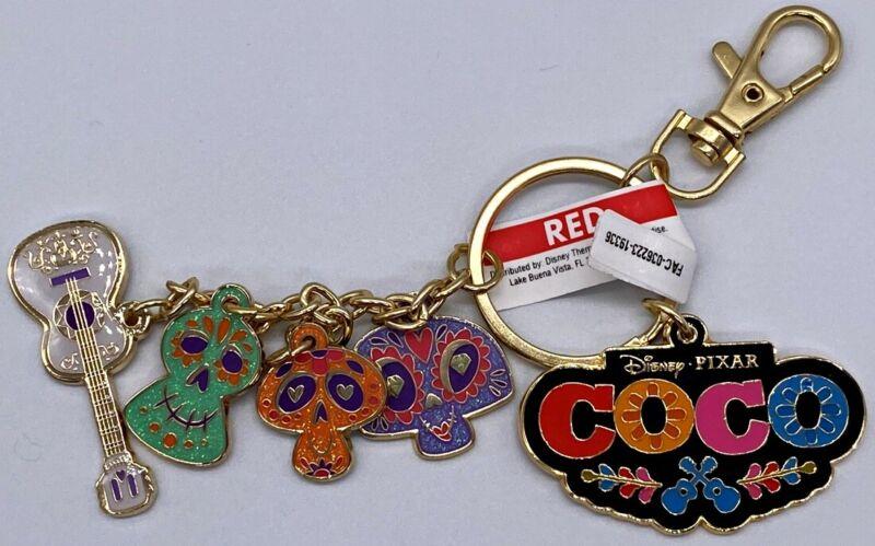 Disney Parks COCO Calaveras Sugar Skulls Guitar Charms Keychain - NEW