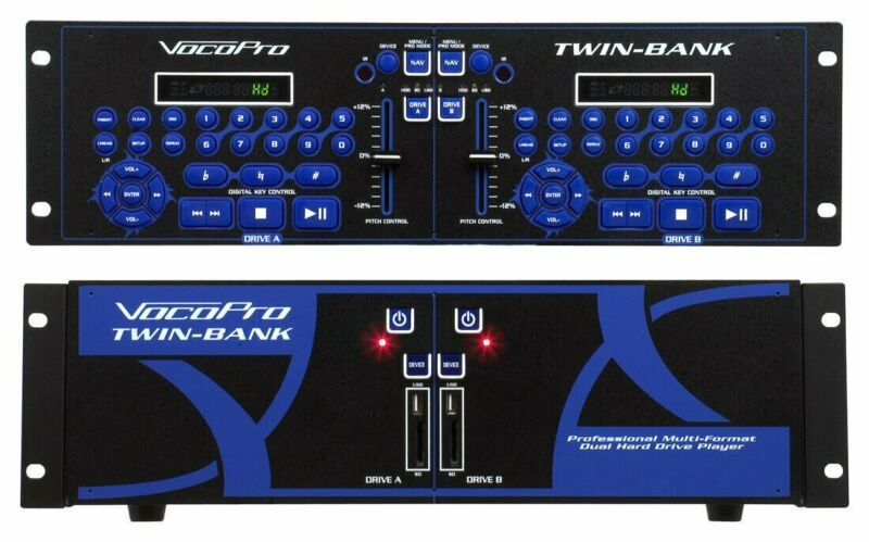 VocoPro Twin-Bank Professional Multi-Format Dual Hard Drive Player